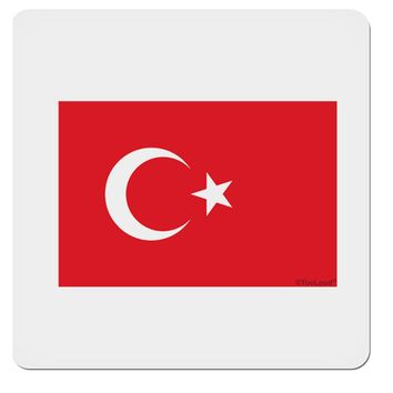 """Turkey Flag 4x4"""" Square Sticker by TooLoud"""