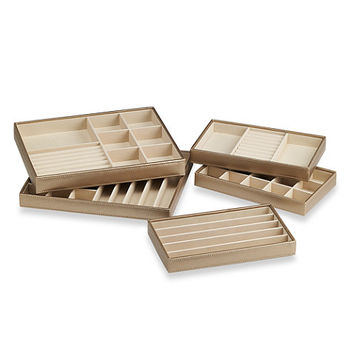 Ampersand® Gold Stackable Jewelry Trays