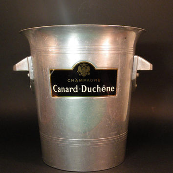 Canard-Duchene, champagne bucket, vintage ice bucket, french ice bucket, french home decor, shabby chic french, french dining,vintage dining