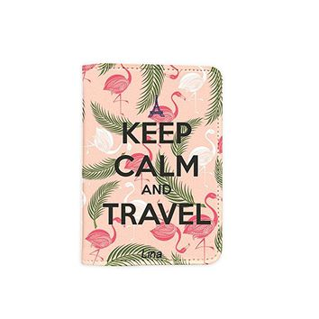 Cute Flamingo Pink Customized Cute Leather Passport Holder - Passport Covers - Passport Wallet_SUPERTRAMPshop