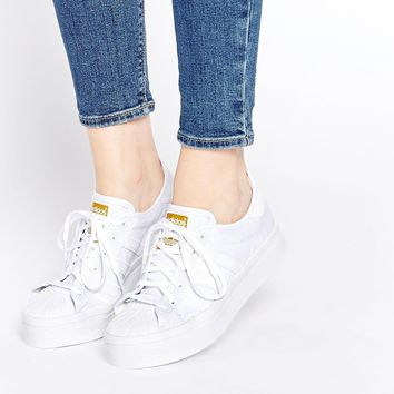 adidas Originals Superstar Rize White Trainers at asos.com