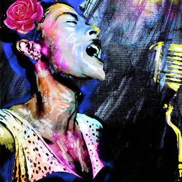 Billie Holiday Art