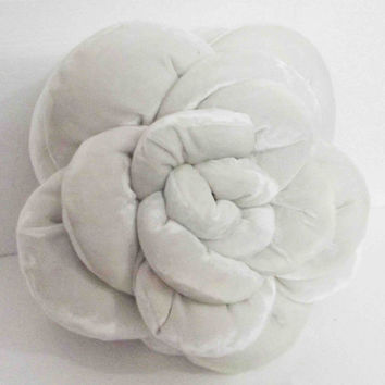 white  rose flower pillow, home decor, 18x18, throw pillow, flower pillow, accent pillow, decorative pillow, wedding pillow, bridal pillow