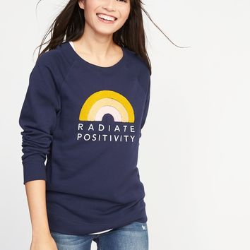Relaxed Graphic Crew-Neck Sweatshirt for Women | Old Navy