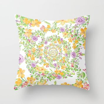 Floral Hypnosis Throw Pillow by Starflyer Art
