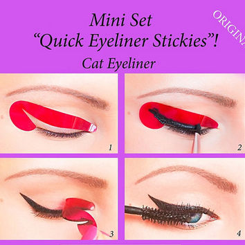 Quick Eyeliner Stickies Stencils Cosmetic Eye Makeup Tool STARTER SET 12 pcs