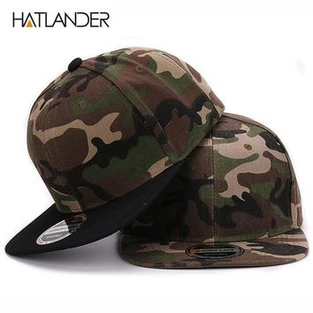 Trendy Winter Jacket HATLANDER Camouflage snapback polyester cap blank flat camo baseball cap with no embroidery mens cap and hat for men and women AT_92_12