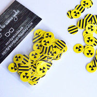 Radioactive Symbol Confetti (120 pieces) | Mad Science Party Decoration | Scientist, Physics, Chemistry, Biology | Zombie Party, Apacolypse