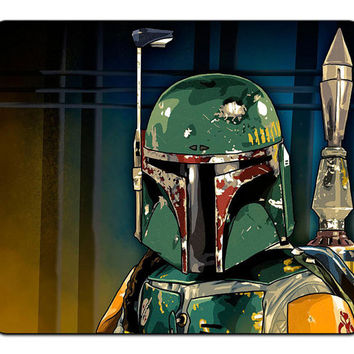 Star Wars Boba Fett Bounty Hunter Mousepad Mouse Pad Mat