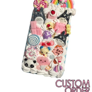 Made to Order! Totoro in Candyland Kawaii Decoden Case