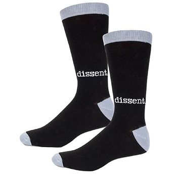 Dissent Men's Socks in Black and Gray