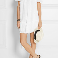 Elizabeth and James - Pippa off-the-shoulder broderie anglaise cotton mini dress