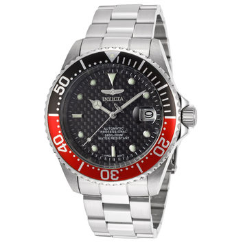 Invicta 15585 Men's Pro Diver Black & Red Bezel Black Dial Automatic Dive Watch