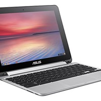 ASUS Flip 2-in-1 C100PA-DS03 10.1-inch Touch Chromebook (1.8GHz, 4GB Memory, 32GB eMMC, Chrome OS), Silver