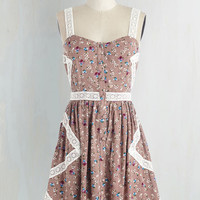Vintage Inspired Short Length Sleeveless A-line Dance With the Wind Dress by ModCloth