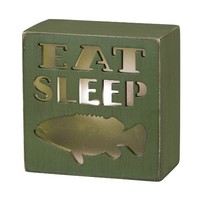 Eat, Sleep, Fish - Lighted Desk and Table Box Lamp Sign