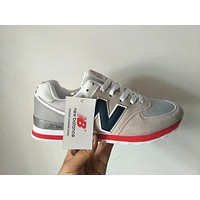 New Balance 574 Unisex Sport Casual N Words Retro Multicolor Sneakers Couple Running Shoes