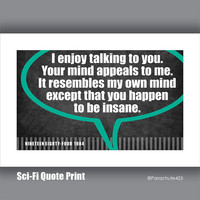 NINETEEN EIGHTY-FOUR 1984, classic 80's sci-fi movie quote print
