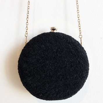 Fuzzy Circle Coin Purse