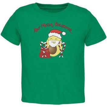 PEAPGQ9 Avo Have A Merry Christmas Avocado Cute Funny Pun Toddler T Shirt