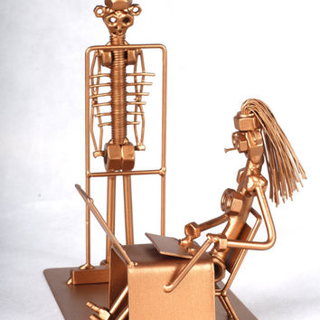 Radiologist - MetalDiorama Metal Art Sculpture