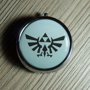 PILL CASE pill box holder pillbox Zelda Family Crest Trinket Box Vitamin Holder Medicine Box or Guitar Pick Case