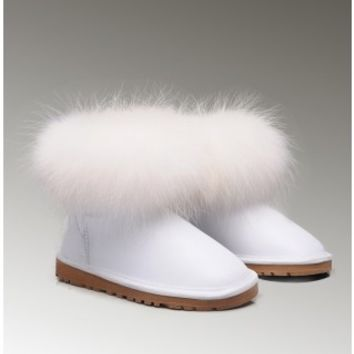 UGGS Fox Fur Mini 5854 Boots White