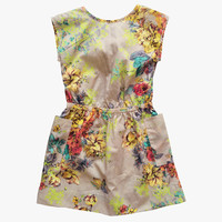 Anthem of the Ants La Costa Bow Back Dress in Neon Floral - only size 4 left - FINAL SALE