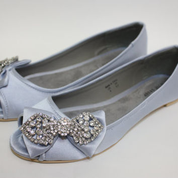 Flat Wedding Shoes Great Gatsby Downton Abbey Era by Parisxox