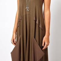 ASOS Maxi Dress With Drape Pockets