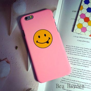 Cute pink happy smiling face Case Cover for Apple iPhone 7 7 Plus 5s 5 SE 6 6S 6 Plus 6S Plus 11080501