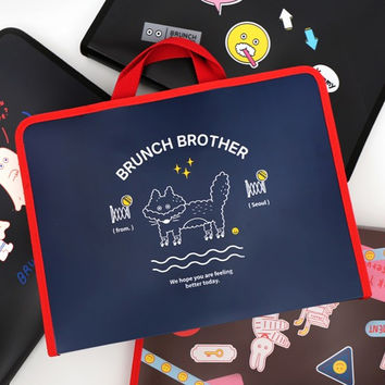 Brunch brother zip around file pouch bag ver2