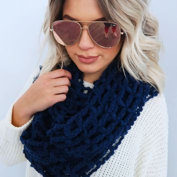 Feel The Chill Scarf: Navy