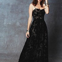 Erin by Erin Fetherston Womens Glam Burnout Maxi - Black