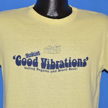 80s Sunkist Good Vibrations Regatta t-shirt Medium