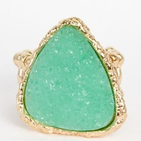 Cube Druzy Stone Stretchable Rings