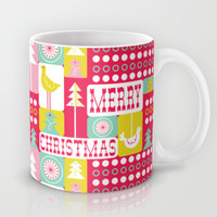 Festive Christmas Collage Mug by Heather Dutton