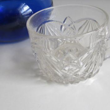 Single Punch Glass Mid Century Glassware Antique Glassware Votive Candle Holder Art Deco Glass