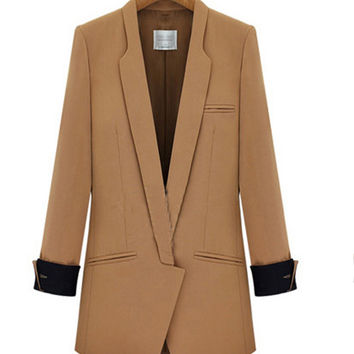 French Cuff Sleeve Lapel Coat