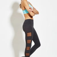 Active Mesh-Paneled Athletic Leggings