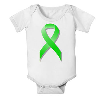 Lyme Disease Awareness Ribbon - Lime Green Baby Romper Bodysuit