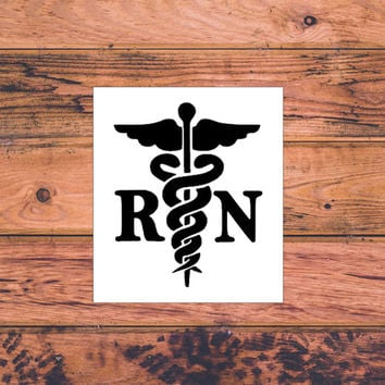 RN Deal | Nurse Life Decal | Scrub Life Decal | Nurse Decals | Nurse Car Sticker | Caduceus Nurse EMT Decal | Scrubs Decal | 244