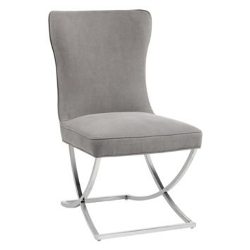 MAYRA DINING CHAIR - VINTAGE LINEN GREY (PRICE SHOWN PER 2 PIECE)