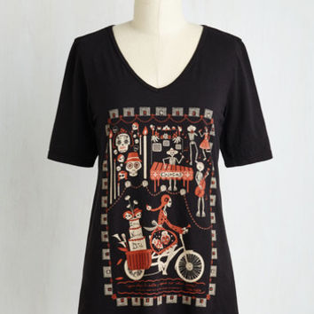 Folk Art Mid-length Short Sleeves Body and Sol Tee