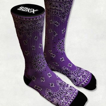Purple Bandana - West Coast - Socks