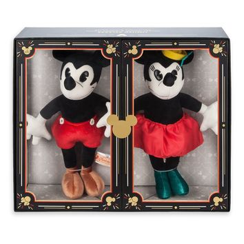 Disney Parks 90th Anniversary Mickey and Minnie Plush Set Limited New with Box