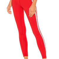 YEAR OF OURS Racer High Rise Legging in Red & White