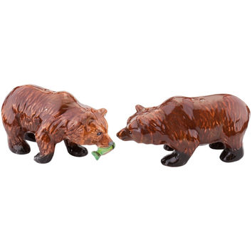 Bears Fishing Salt & Pepper Shakers