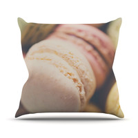 "Laura Evans ""Macaroon Goodness"" Pastel Food Outdoor Throw Pillow"