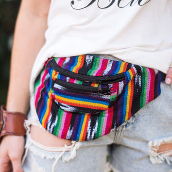Hands Free Woven Fanny Pack